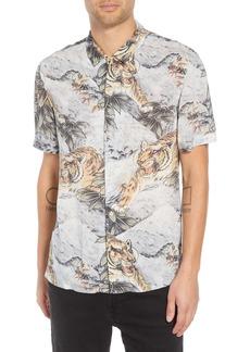ALLSAINTS Chokai Slim Fit Print Sport Shirt