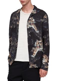 ALLSAINTS Chokai Slim Fit Print Shirt Jacket