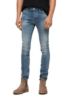 ALLSAINTS Cigarette Skinny Jeans in Mid Indigo