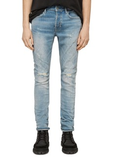 ALLSAINTS Cigarette Slim Fit Jeans in Light Indigo