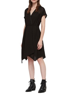ALLSAINTS Claria Asymmetrical Hem Dress