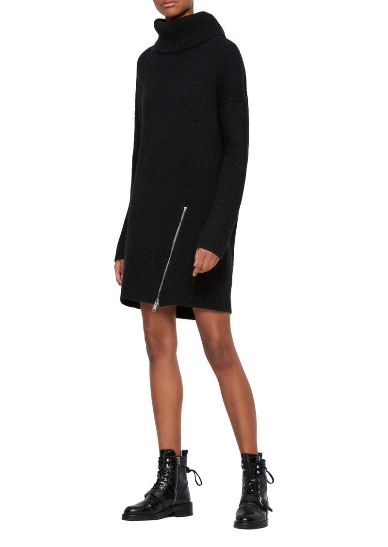 ALLSAINTS Claudette Turtleneck Long Sleeve Sweater Dress