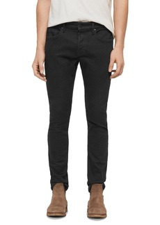 ALLSAINTS Cole Cigarette Skinny Jeans in Washed Black