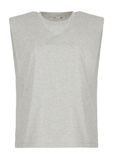 AllSaints Coni Shoulder Pad Cotton Sleeveless Muscle T-Shirt