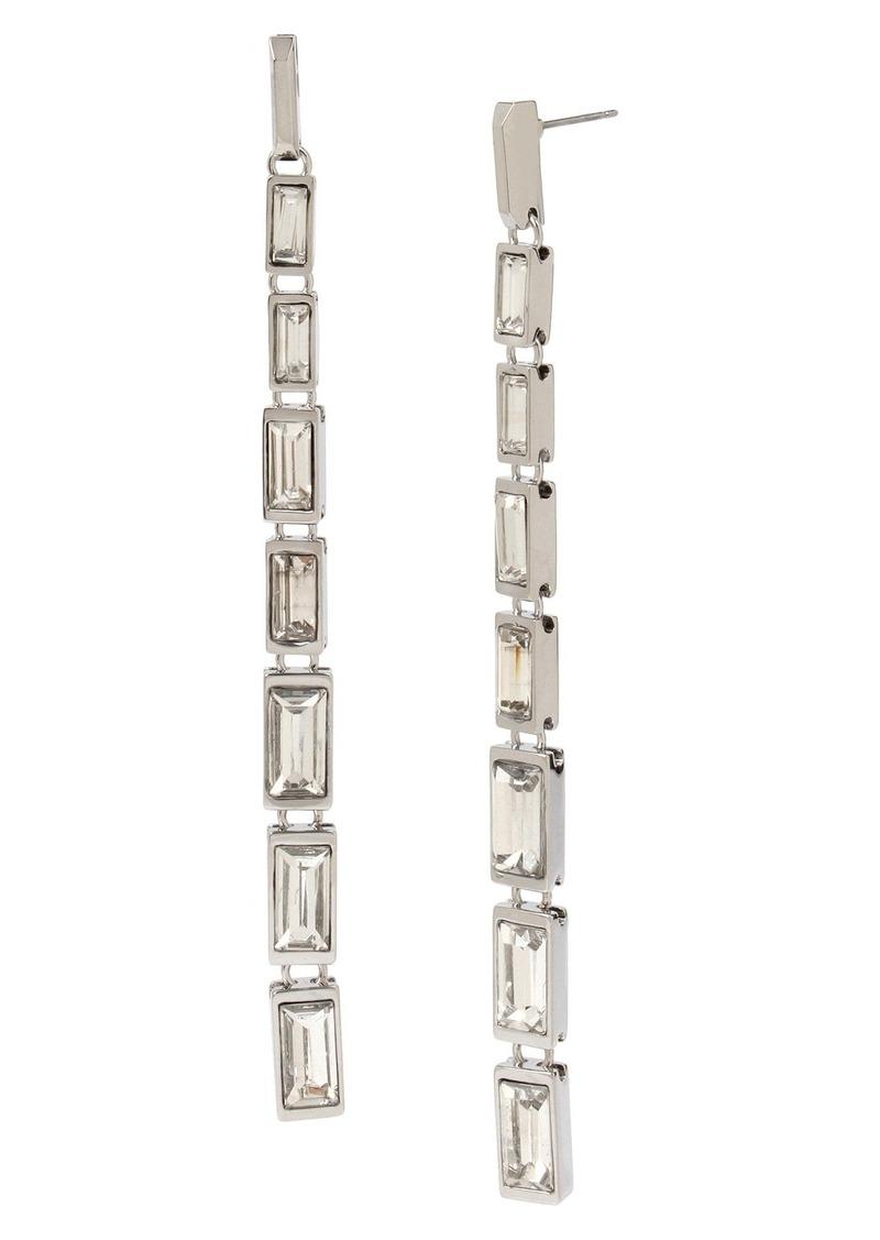 ALLSAINTS Crystal Baguette Linear Drop Earrings