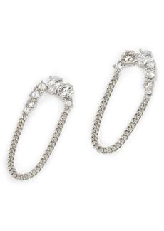 ALLSAINTS Crystal Chain Drop Earrings