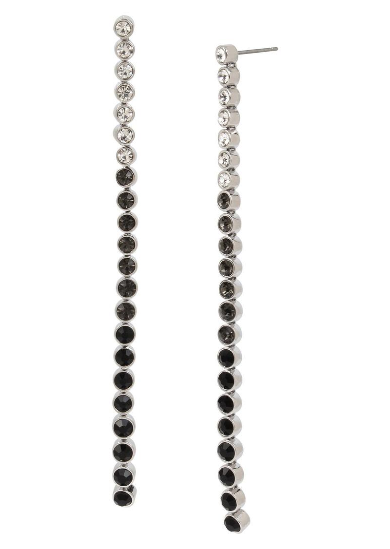 ALLSAINTS Crystal Dot Linear Earrings