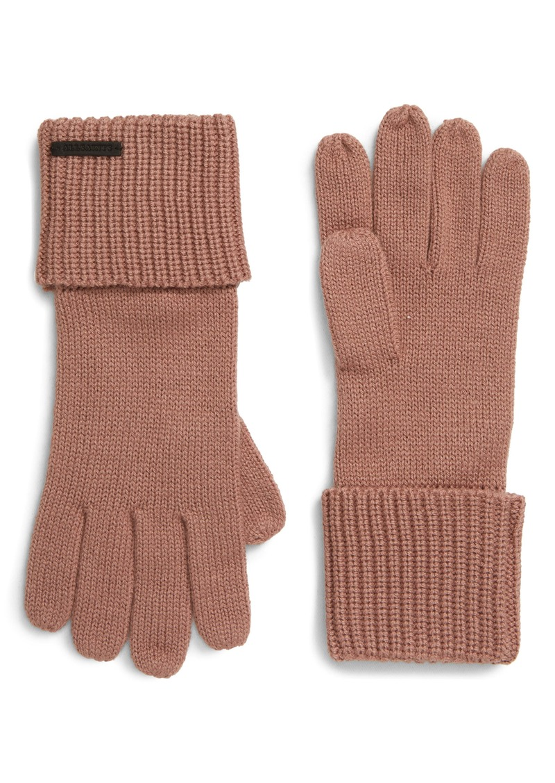 ALLSAINTS Cuffed Knit Gloves