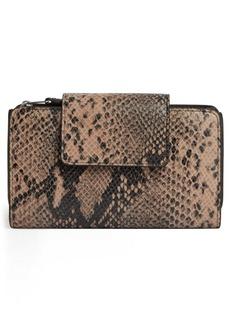 ALLSAINTS Daubeney Snakeskin Print Leather Wallet