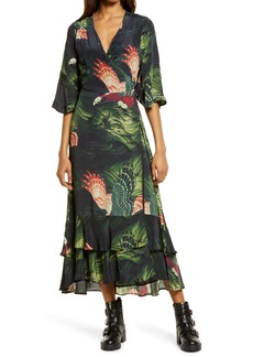 AllSaints Delana Swoop Maxi Dress