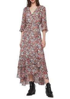 ALLSAINTS Delana Wilde Floral Wrap Dress