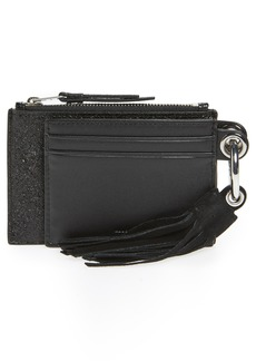 ALLSAINTS Dive Key Fob Leather Zip Pouch & Card Case