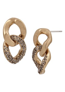 AllSaints Double Chain Link Earrings