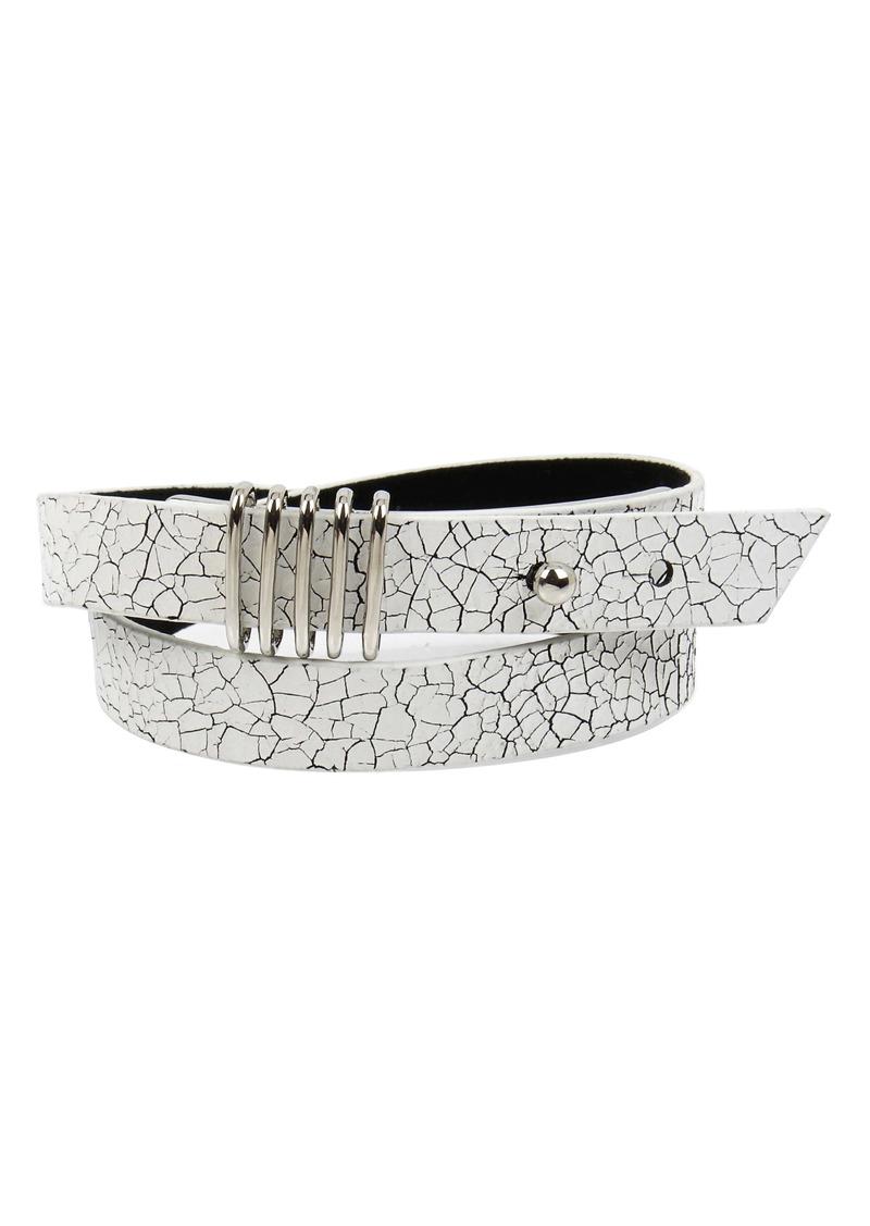 ALLSAINTS Double Wrap Leather Bracelet