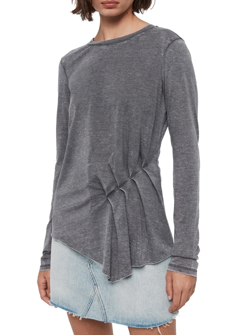 ALLSAINTS Duma Asymmetrical Long Sleeve Tee