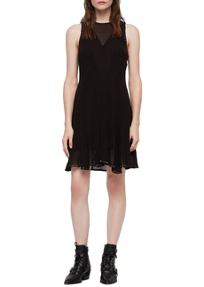 ALLSAINTS Eleanor Stud Trim Dress