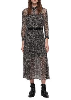 ALLSAINTS Eley Rosey Midi Dress