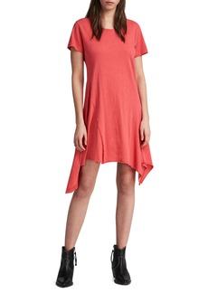 ALLSAINTS Ella Fifi Handkerchief Hem T-Shirt Dress