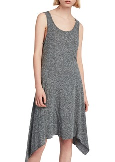 ALLSAINTS Ella Flame Handkerchief Hem Tank Dress