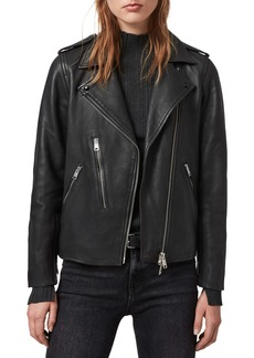 ALLSAINTS Elva Lambskin Leather Biker Jacket