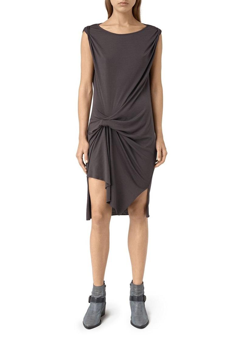 ALLSAINTS Erin Devo Drape Front Sleeveless Dress