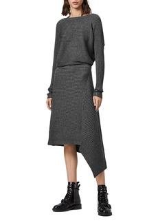 ALLSAINTS Eva Metallic Sweater Dress