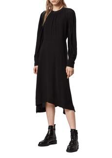 ALLSAINTS Fayre Long Sleeve Midi Dress