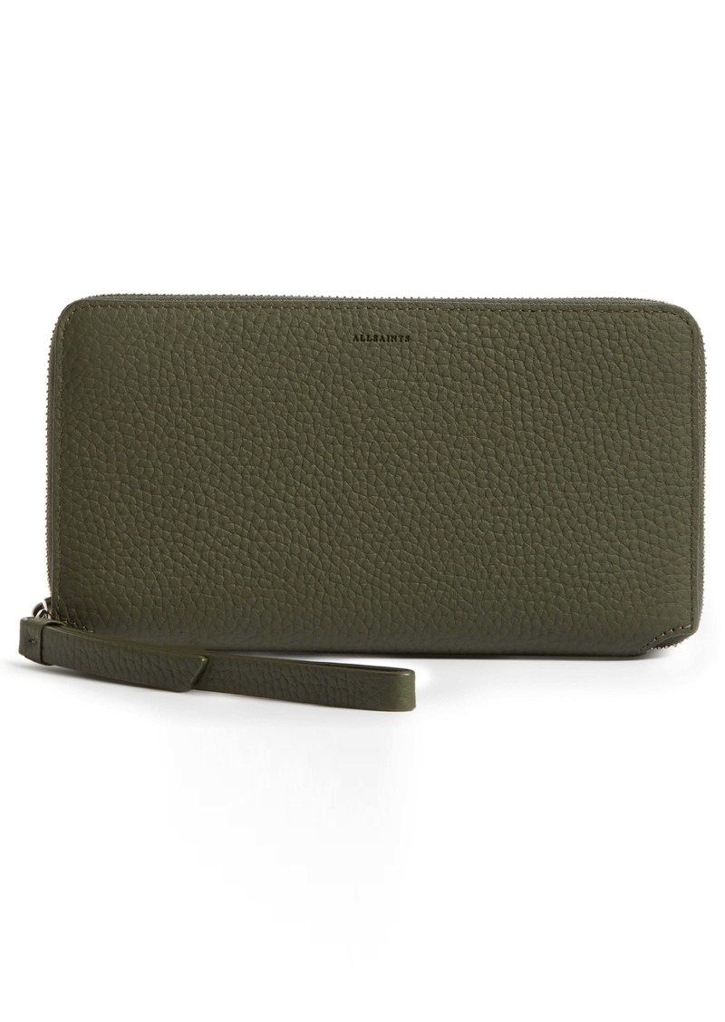 ALLSAINTS Fetch Leather Phone Wristlet