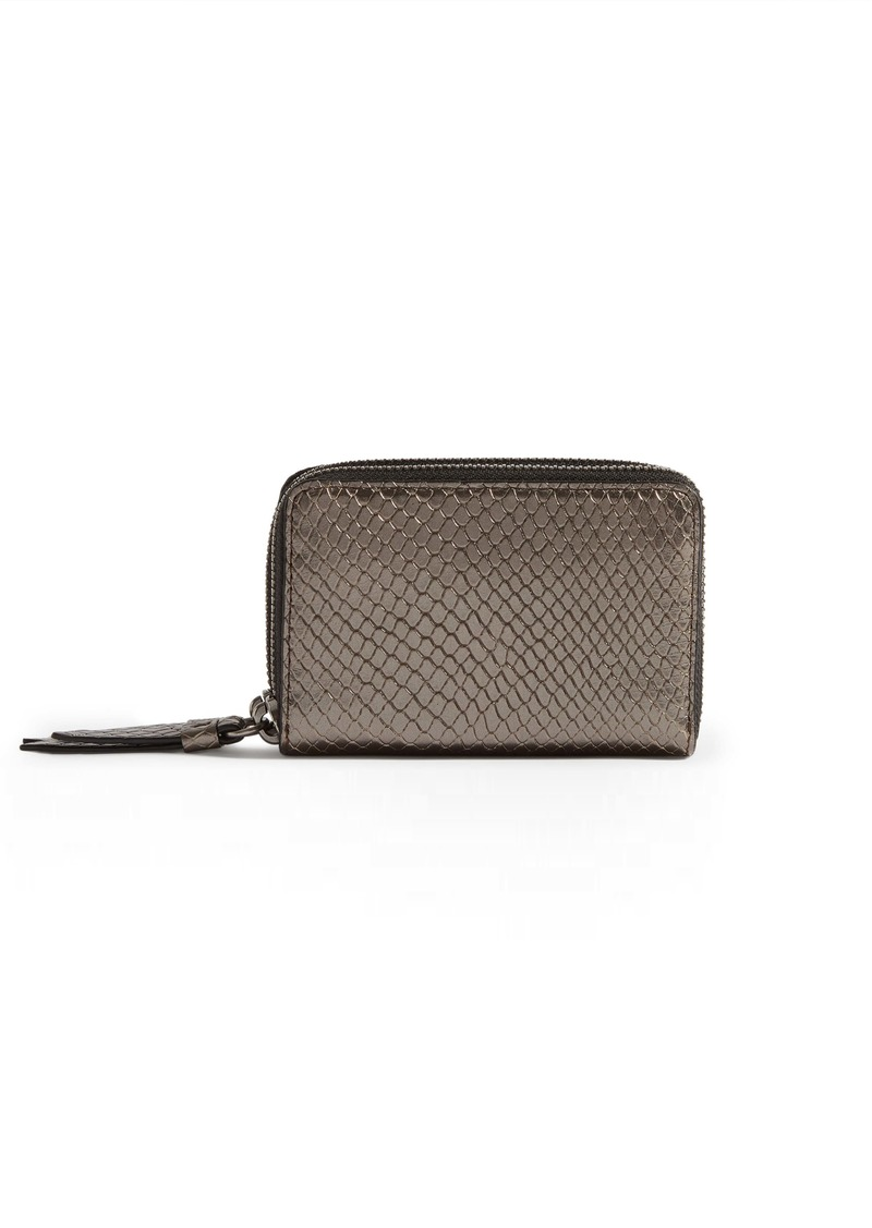 ALLSAINTS Fetch Reptile Embossed Leather Card Holder