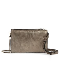 ALLSAINTS Fetch Reptile Embossed Leather Crossbody Wallet