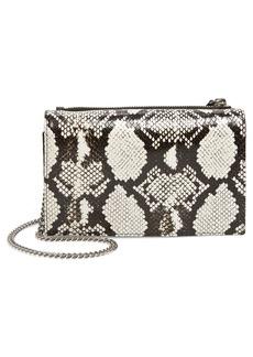ALLSAINTS Fetch Snake Embossed Leather Crossbody Bag
