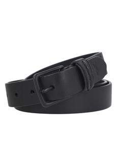 AllSaints Flat Strap Stitch Detail Belt