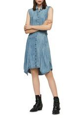 ALLSAINTS Francis Tie-Waist Denim Shirt Dress