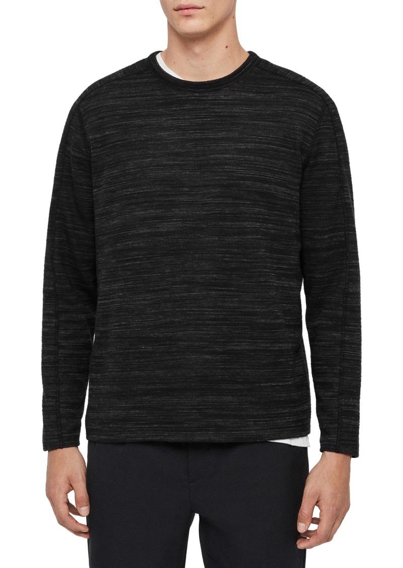 ALLSAINTS Gannet Long Sleeve Mélange T-Shirt