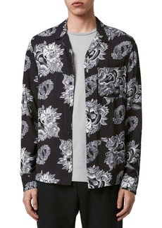 ALLSAINTS Garland Regular Fit Floral Print Button-Up Shirt