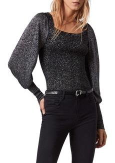 ALLSAINTS Gloria Merino Wool Metallic Sweater