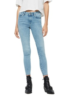 ALLSAINTS Grace Ankle Fray Skinny Jeans in Light Indigo