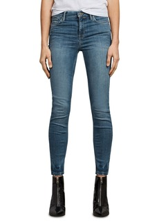 ALLSAINTS Grace Ankle Skinny Jeans in Fresh Blue