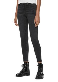 ALLSAINTS Grace Ankle Skinny Jeans in Washed Black