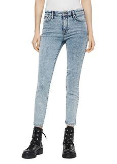 ALLSAINTS Grace Cropped Acid-Wash Jeans