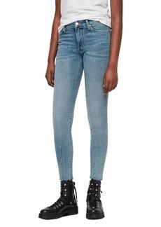 ALLSAINTS Grace Dart Cropped Skinny Jeans in Light Indigo