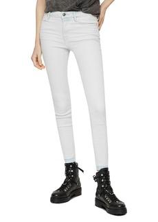 ALLSAINTS Grace Released-Hem Cropped Skinny Jeans in Bleach Indigo