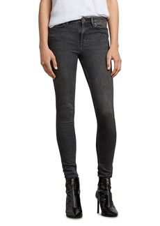 ALLSAINTS Grace Skinny Jeans in Washed Black