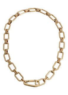 AllSaints Hammered Link Collar Necklace