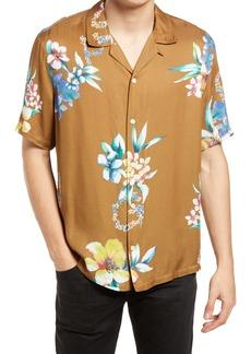 AllSaints Hana Floral Short Sleeve Button-Up Camp Shirt