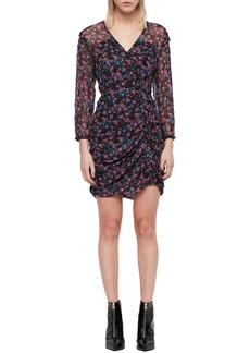 ALLSAINTS Harlow Asa V-Neck Ruched Dress