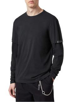 AllSaints Haven Layered Long Sleeve T-Shirt