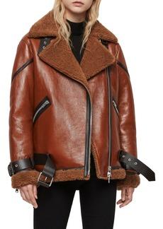 ALLSAINTS Hawley Genuine Shearling Leather Jacket