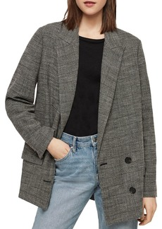 ALLSAINTS Helei Plaid Double-Breasted Blazer