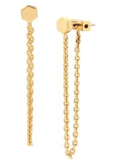 ALLSAINTS Hex Chain Front/Back Earrings